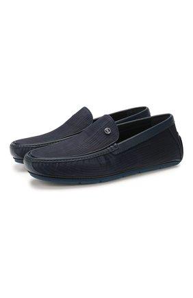 Мужские кожаные мокасины ZILLI темно-синего цвета, арт. MDT-M042/001 | Фото 1