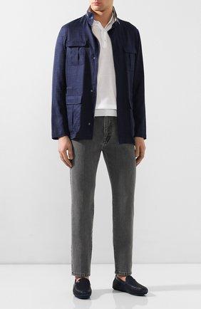 Мужские кожаные мокасины ZILLI темно-синего цвета, арт. MDT-M042/001 | Фото 2