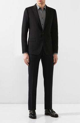 Мужская хлопковая сорочка HUGO черно-белого цвета, арт. 50420744 | Фото 2