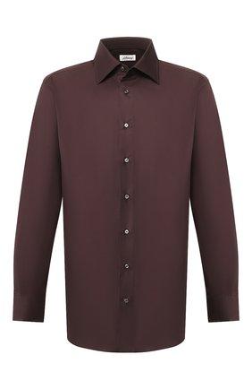 Мужская хлопковая сорочка BRIONI коричневого цвета, арт. RCL90L/PZ023 | Фото 1
