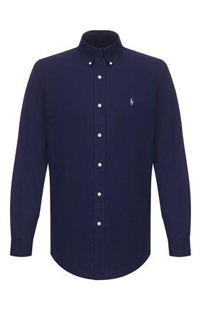 Мужская хлопковая рубашка POLO RALPH LAUREN темно-синего цвета, арт. 710792044 | Фото 1