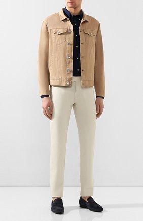 Мужская хлопковая рубашка POLO RALPH LAUREN темно-синего цвета, арт. 710792044 | Фото 2