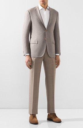 Мужской шерстяные брюки BRIONI бежевого цвета, арт. RPL60P/P9AA4/TIGULLI0 | Фото 2