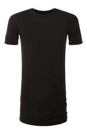 Мужская хлопковая футболка RICK OWENS черного цвета, арт. RU20S7256/UC   Фото 1