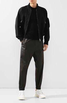 Мужская хлопковая футболка RICK OWENS черного цвета, арт. RU20S7256/UC   Фото 2