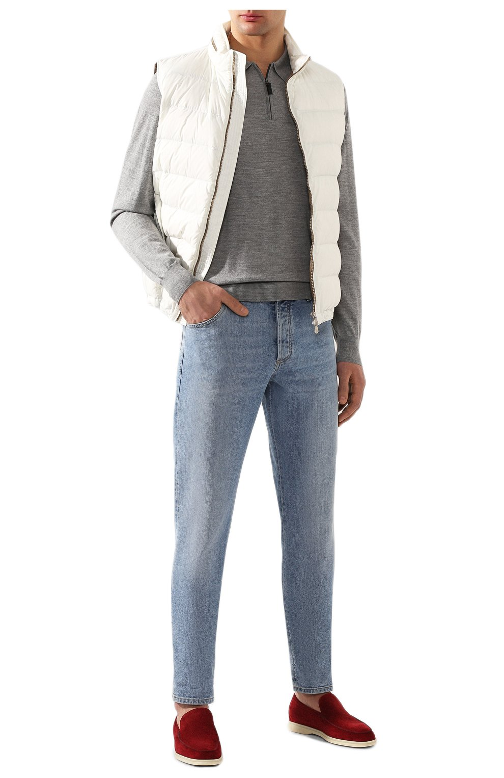 Мужское шерстяное поло BRIONI серого цвета, арт. UMS10L/0ZK18 | Фото 2