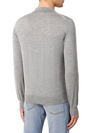 Мужское шерстяное поло BRIONI серого цвета, арт. UMS10L/0ZK18 | Фото 4