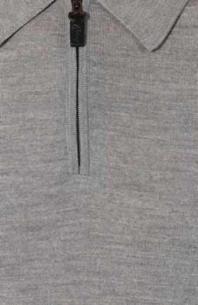Мужское шерстяное поло BRIONI серого цвета, арт. UMS10L/0ZK18 | Фото 5