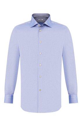 Мужская хлопковая сорочка KITON синего цвета, арт. UCIH0660504 | Фото 1