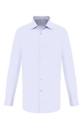 Мужская хлопковая сорочка KITON светло-голубого цвета, арт. UCIH0660818 | Фото 1
