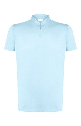 Мужская хлопковая футболка KITON голубого цвета, арт. UMCCAPH07217   Фото 1