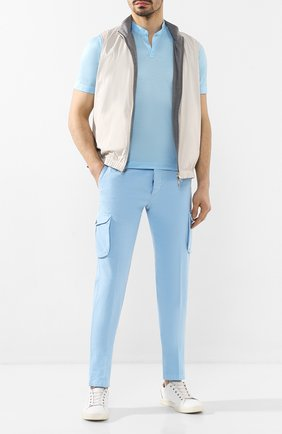 Мужская хлопковая футболка KITON голубого цвета, арт. UMCCAPH07217   Фото 2