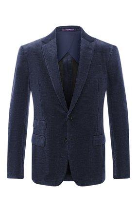 Мужской хлопковый пиджак RALPH LAUREN синего цвета, арт. 798783843 | Фото 1