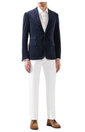 Мужской хлопковый пиджак RALPH LAUREN синего цвета, арт. 798783843 | Фото 2