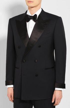 Мужской шерстяной смокинг TOM FORD черного цвета, арт. 722R13/21EJ46 | Фото 2