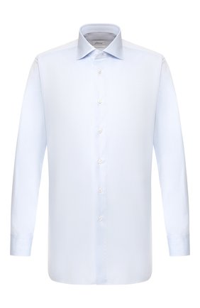 Мужская хлопковая сорочка BRIONI голубого цвета, арт. RCL82B/P806N | Фото 1
