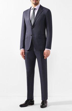 Мужская хлопковая сорочка BRIONI сиреневого цвета, арт. RCLU0U/P907L | Фото 2