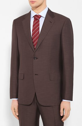 Мужской костюм из смеси шерсти и шелка BRIONI коричневого цвета, арт. RAH00U/P9A5L/PARLAMENT0   Фото 2