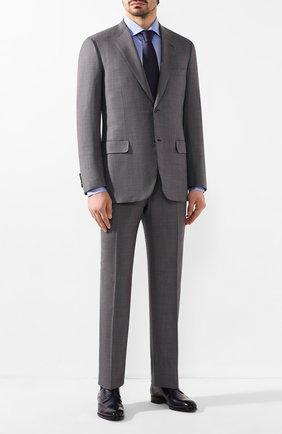 Мужской шерстяной костюм BRIONI серого цвета, арт. RAH00U/P9A5V/PARLAMENT0   Фото 1