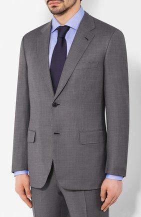 Мужской шерстяной костюм BRIONI серого цвета, арт. RAH00U/P9A5V/PARLAMENT0   Фото 2