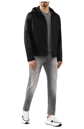 Мужская куртка BRIONI черного цвета, арт. SLQZ0L/P9912   Фото 2