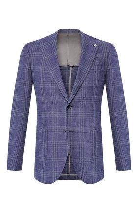 Мужской пиджак из смеси шерсти и льна L.B.M. 1911 темно-синего цвета, арт. 2411/02612 | Фото 1
