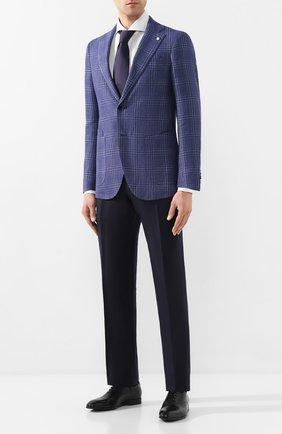 Мужской пиджак из смеси шерсти и льна L.B.M. 1911 темно-синего цвета, арт. 2411/02612 | Фото 2