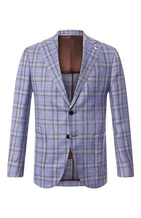 Мужской пиджак из смеси шерсти и шелка L.B.M. 1911 голубого цвета, арт. 2411/02594 | Фото 1
