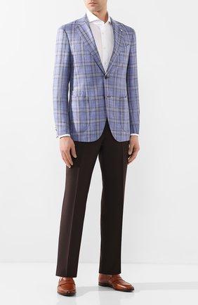 Мужской пиджак из смеси шерсти и шелка L.B.M. 1911 голубого цвета, арт. 2411/02594 | Фото 2