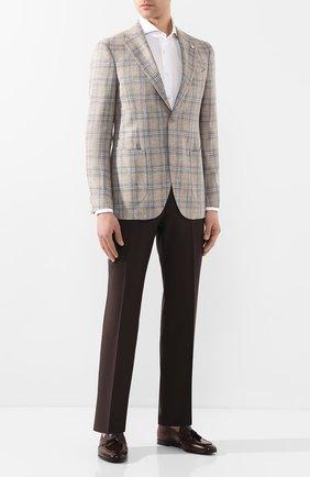 Мужской пиджак из смеси шерсти и шелка L.B.M. 1911 бежевого цвета, арт. 2411/02592 | Фото 2