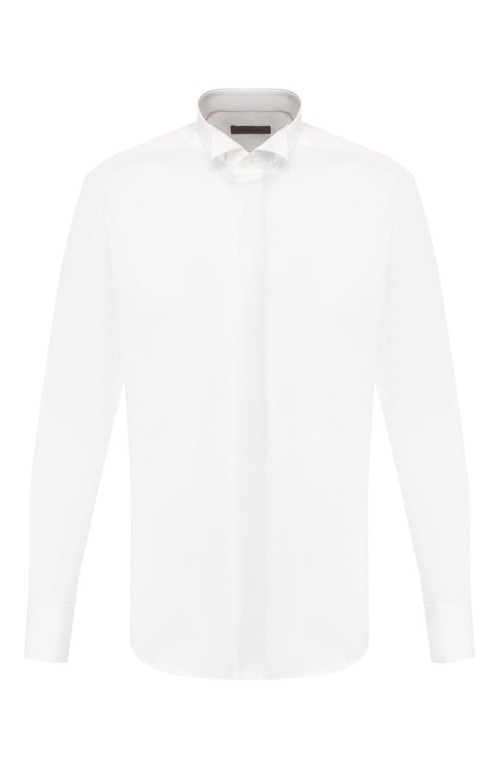 Мужская хлопковая сорочка CORNELIANI белого цвета, арт. 85E191-0111102/00   Фото 1
