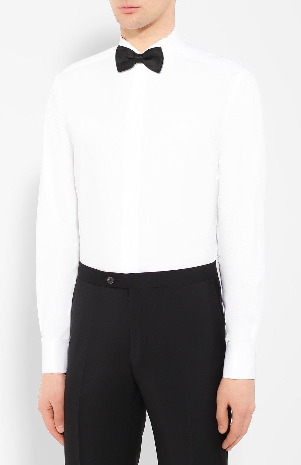 Мужская хлопковая сорочка CORNELIANI белого цвета, арт. 85E191-0111102/00   Фото 4