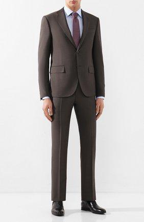 Мужской шерстяной костюм CORNELIANI коричневого цвета, арт. 857268-0114135/92 Q1   Фото 1