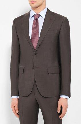 Мужской шерстяной костюм CORNELIANI коричневого цвета, арт. 857268-0114135/92 Q1   Фото 2