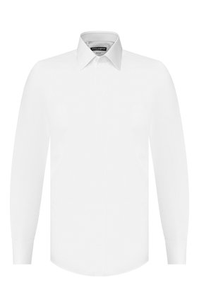 Мужская хлопковая сорочка DOLCE & GABBANA белого цвета, арт. G5GB3T/FJ5GD | Фото 1