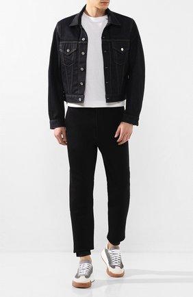 Мужская джинсовая куртка HELMUT LANG темно-синего цвета, арт. I09DM105 | Фото 2