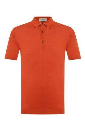 Мужское хлопковое поло JOHN SMEDLEY оранжевого цвета, арт. ADRIAN | Фото 1