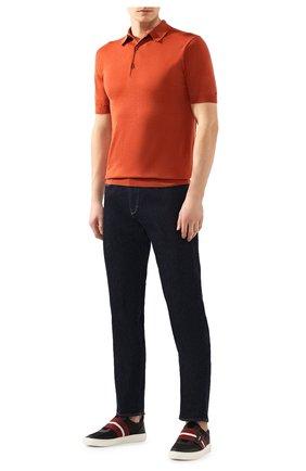 Мужское хлопковое поло JOHN SMEDLEY оранжевого цвета, арт. ADRIAN | Фото 2