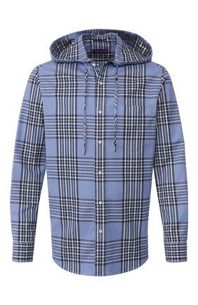Мужская хлопковая рубашка RALPH LAUREN голубого цвета, арт. 790780980 | Фото 1
