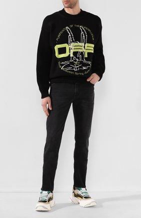 Мужские джинсы ACNE STUDIOS темно-серого цвета, арт. 30Y176-142 | Фото 2