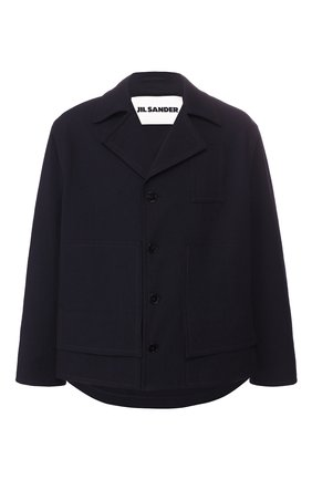 Мужская куртка JIL SANDER темно-синего цвета, арт. JSMQ400212-MQ441000 | Фото 1