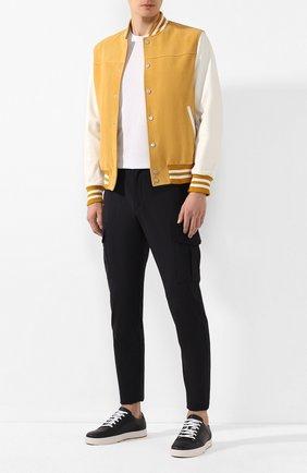 Мужской шерстяные брюки-карго ELEVENTY PLATINUM темно-синего цвета, арт. A75PANA20 TES0A053 | Фото 2