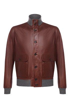 Мужской кожаный бомбер ELEVENTY PLATINUM коричневого цвета, арт. A75GBTA02 PEL0A005   Фото 1