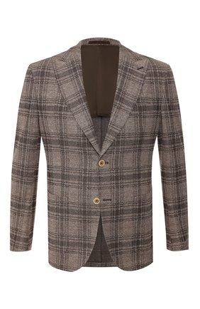 Мужской пиджак из смеси хлопка и льна ELEVENTY коричневого цвета, арт. A70GIAA05 TES0A135 | Фото 1