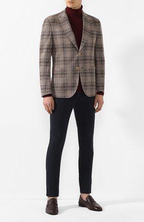 Мужской пиджак из смеси хлопка и льна ELEVENTY коричневого цвета, арт. A70GIAA05 TES0A135 | Фото 2