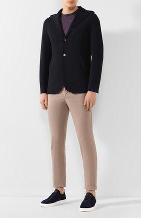 Мужской хлопковый пиджак ELEVENTY темно-синего цвета, арт. 979JA3195 JAC25001   Фото 2