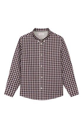 Детская хлопковая рубашка BRUNELLO CUCINELLI бежевого цвета, арт. BN6353008B | Фото 1