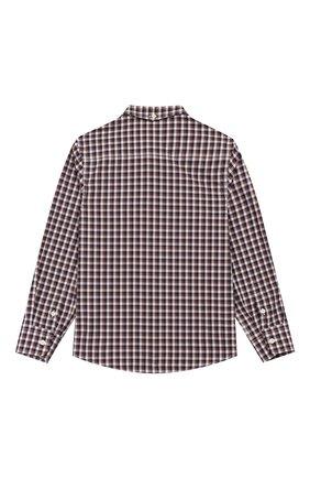 Детская хлопковая рубашка BRUNELLO CUCINELLI бежевого цвета, арт. BN6353008B | Фото 2