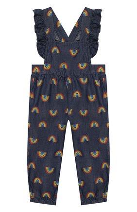 Детский хлопковый комбинезон STELLA MCCARTNEY синего цвета, арт. 589568/S0K82 | Фото 1