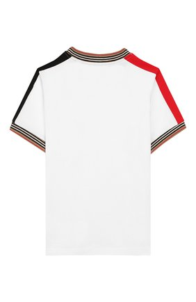 Детская хлопковая футболка BURBERRY белого цвета, арт. 8022251 | Фото 2